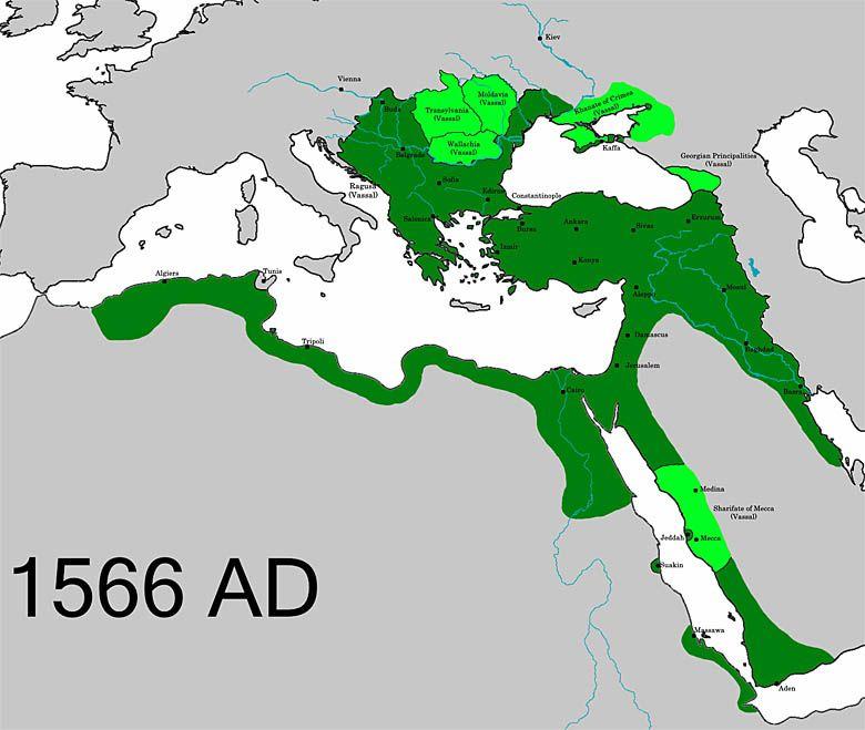 Imperium Osmańskie (1566) – państwo tureckie na Bliskim Wschodzie, założone  przez Turków osmańskich, jedno z plemion tureckich.
