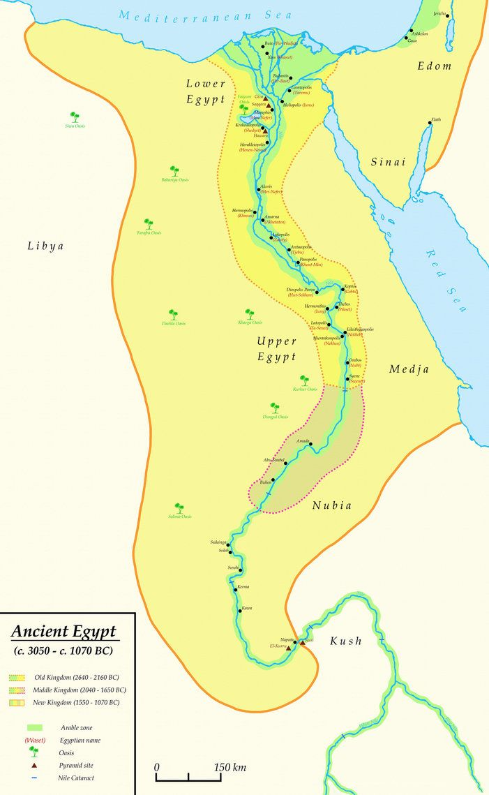 Granice Starozytnego Egiptu Ok 3100 P N E 30 P N E
