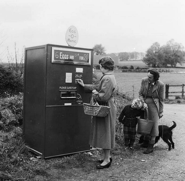 Automat do jajek, 1960